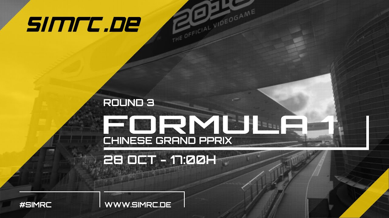 F1 2018 - SimRC.de Sunday League - China - Race 3