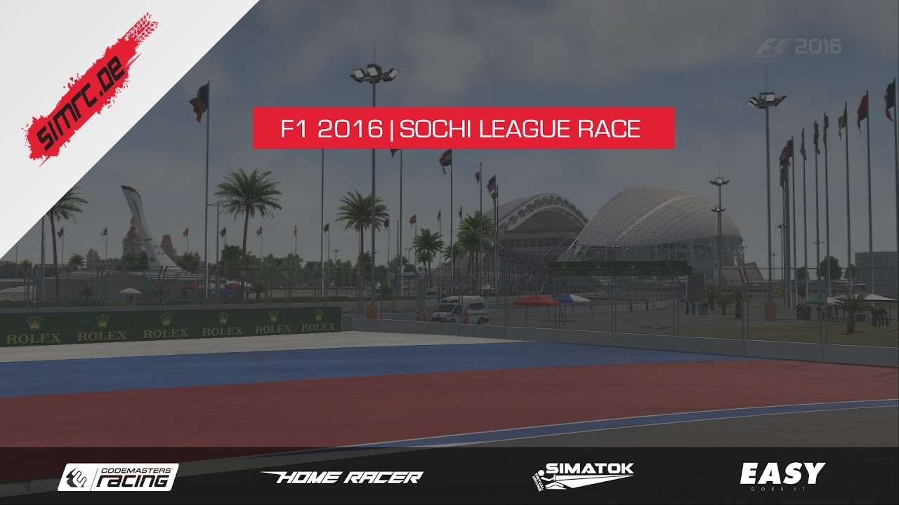 F1 2016 | SimRC League Race | Sochi HD