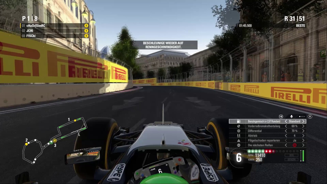 F1 2016 | SimRC League Race | Baku HD